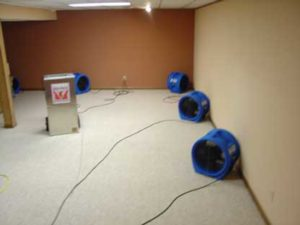Drying-Flooded-Carpet---Pad-In-Place